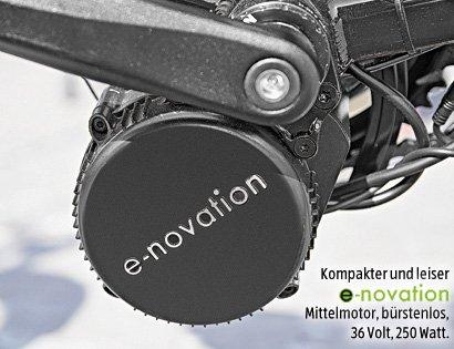 Mittelmotor im Aldi-E-Bike