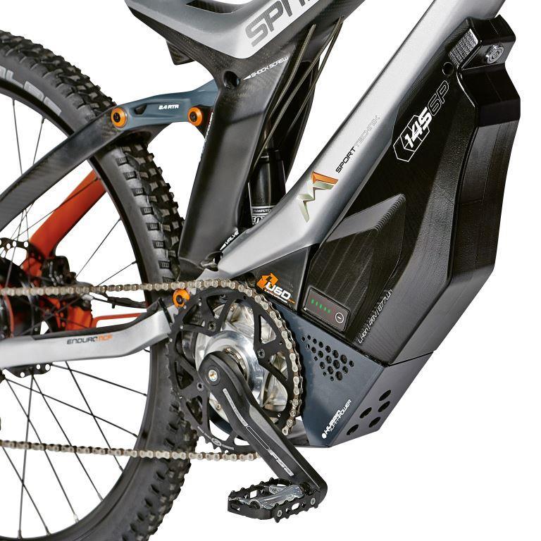 M1 Spitzig: Detail Antrieb und Batterie / Foto: M1 Sporttechnik