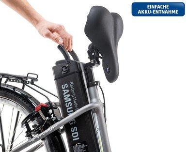 Hofer E-Bike 2015 - entnehmbarer Samsung-Akku / Foto: Hofer